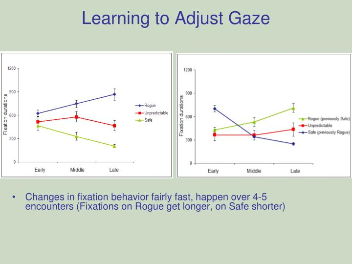Learning to Adjust Gaze