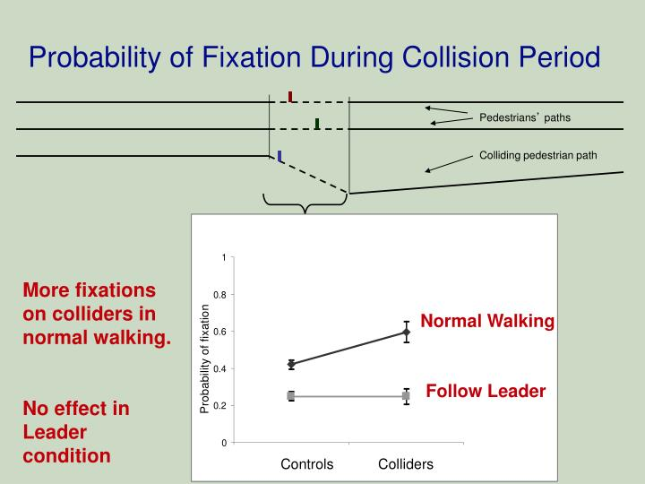 Probability of Fixation During Collision Period