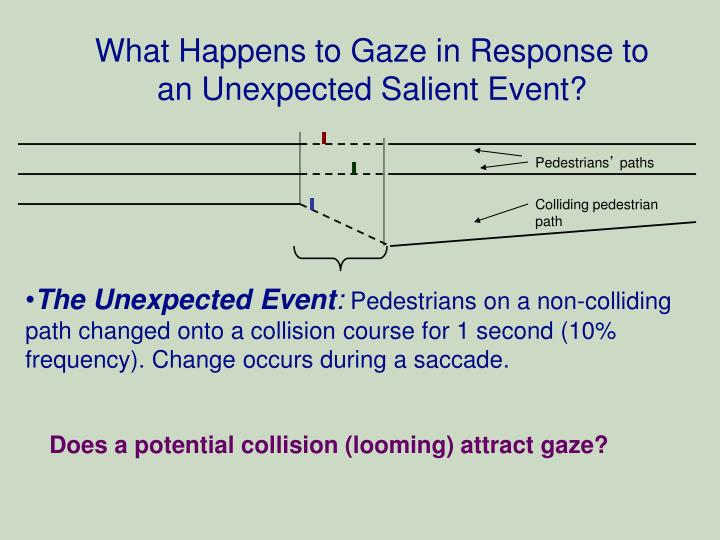 What Happens to Gaze in Response to an Unexpected Salient Event?
