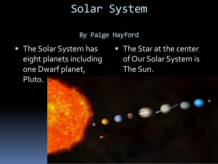 Solar system by paige hayford