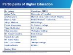 participants of higher education