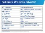 participants of technical education