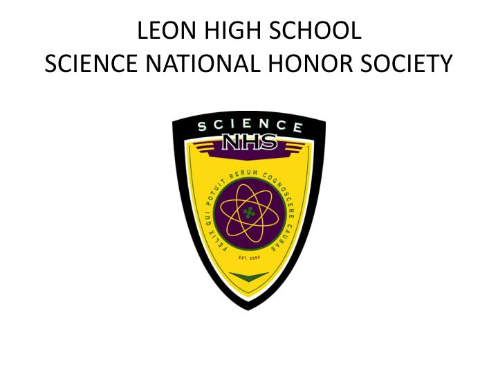 leon high school science national honor society n.