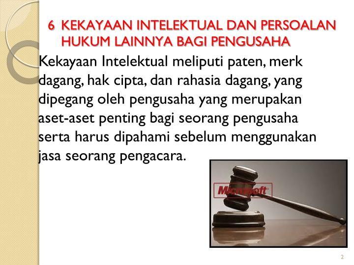 6 kekayaan intelektual dan persoalan hukum lainnya bagi pengusaha