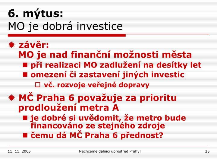 6. mýtus: