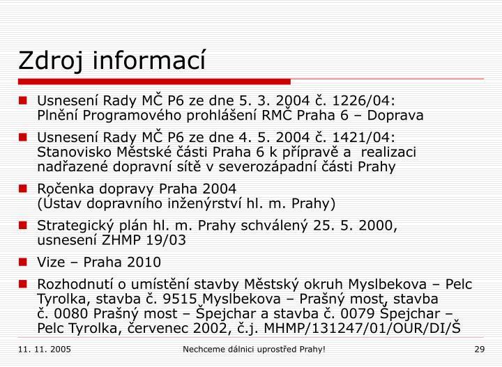 Zdroj informací