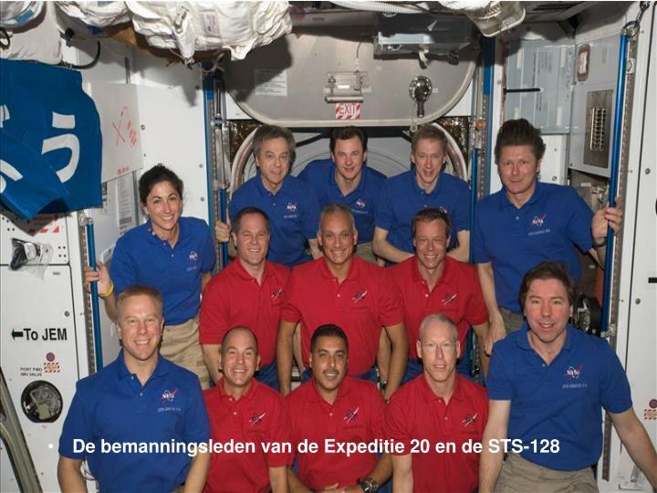 De bemanningsleden van de Expeditie 20 en de STS-128