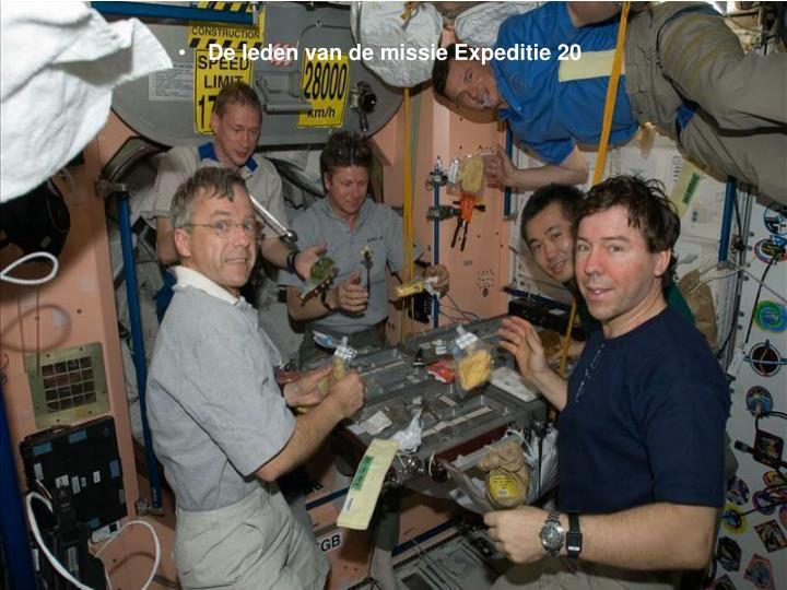 De leden van de missie Expeditie 20