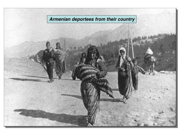 Armenian deportees from their country