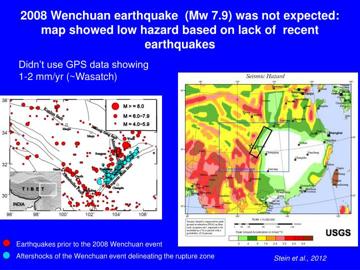 Earthquakes prior to the 2008 Wenchuan event
