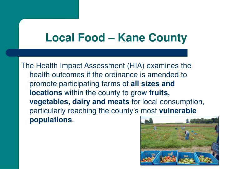 Local Food – Kane County