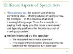 different aspects of speech acts1