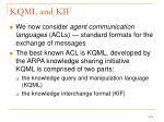 kqml and kif
