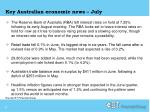 key australian economic news july