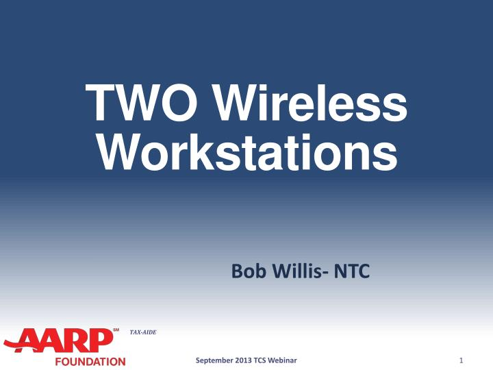 two wireless workstations n.