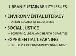 urban sustainability issues