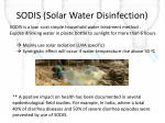 sodis solar water disinfection