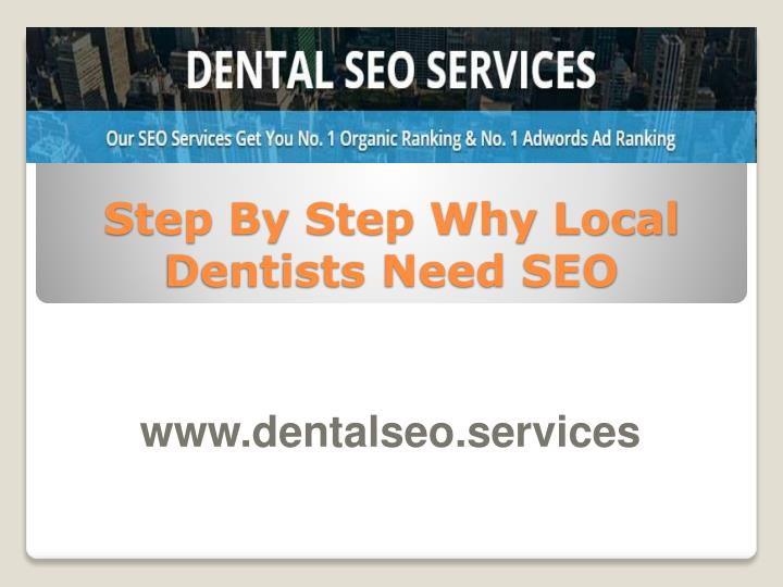 step by step why local dentists need seo n.