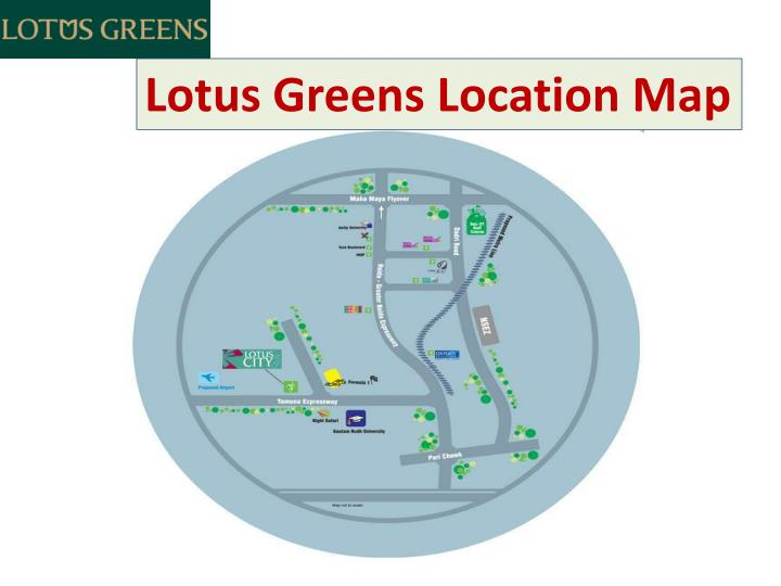 Lotus Greens Location Map