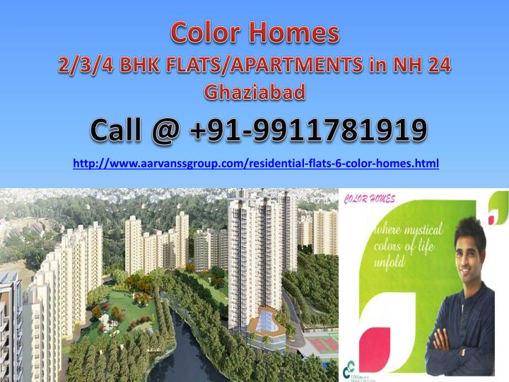 color homes 2 3 4 bhk flats apartments in nh 24 ghaziabad n.