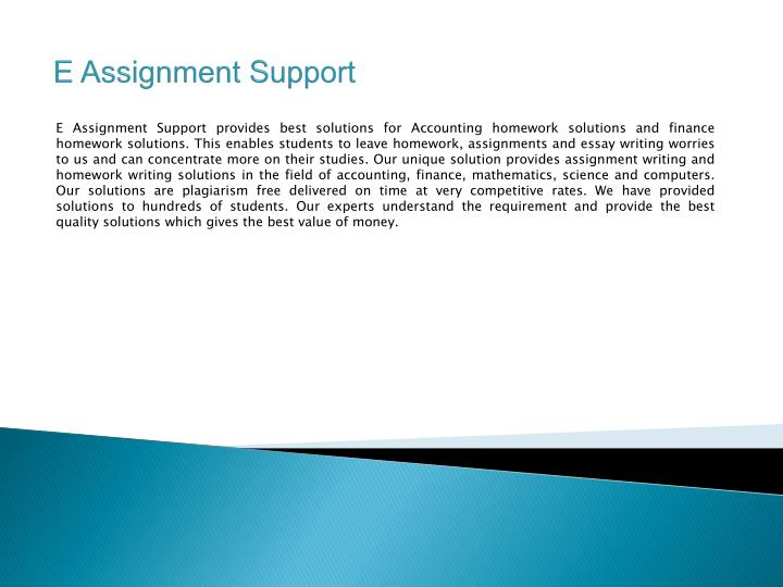 e assignment support n.