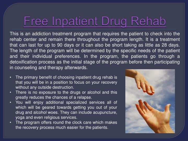 Free inpatient drug rehab