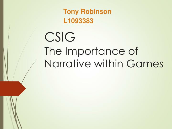 csig the importance of narrative within games n.