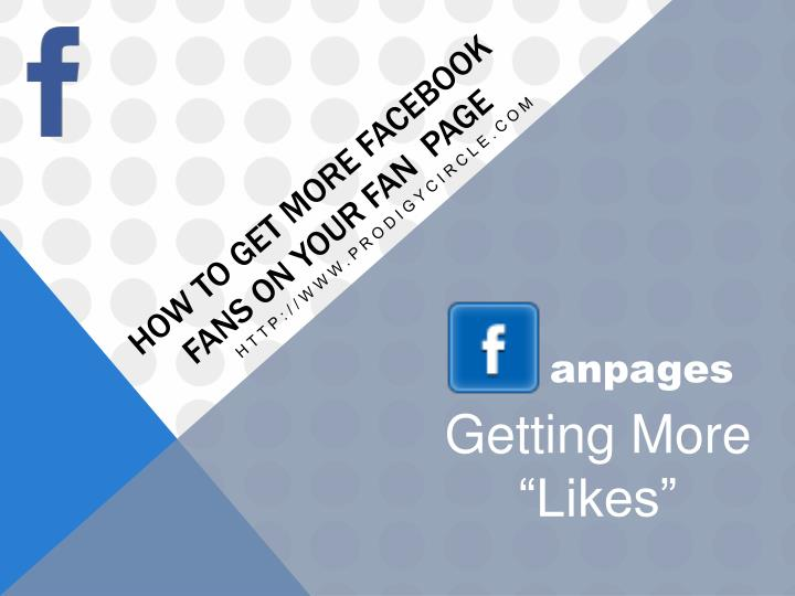 how to get more facebook fans on your fan page n.