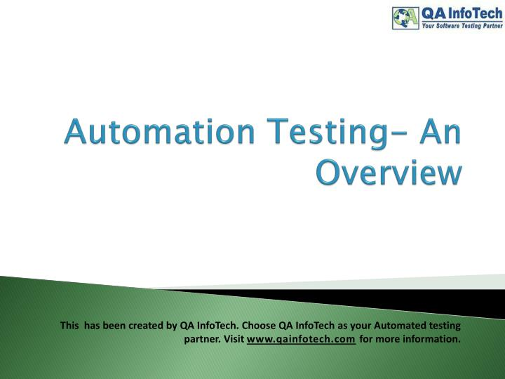 automation testing an overview n.