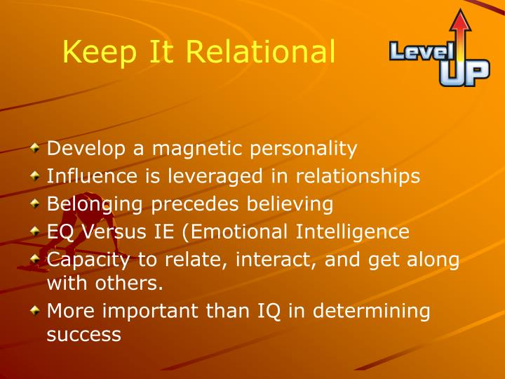 Keep It Relational