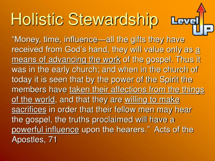 Holistic Stewardship