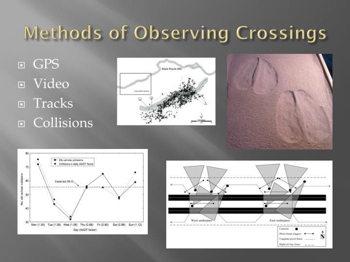 Methods of observing crossings
