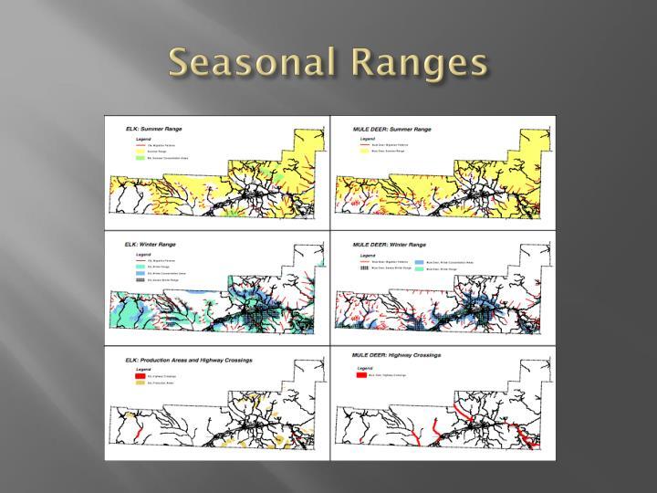 Seasonal Ranges