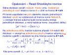 opakov n read shockleyho rovnice