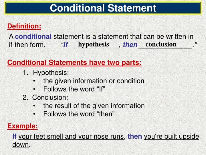 Ppt Objectives Recognize Conditional Statements Write Converses