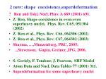 2 new shape coexistence superdeformation