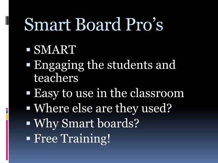 Smart Board Pro's