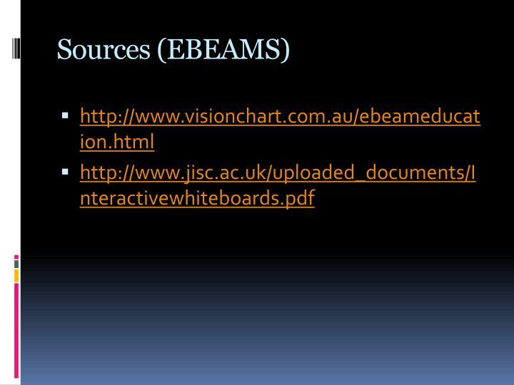 Sources (EBEAMS)