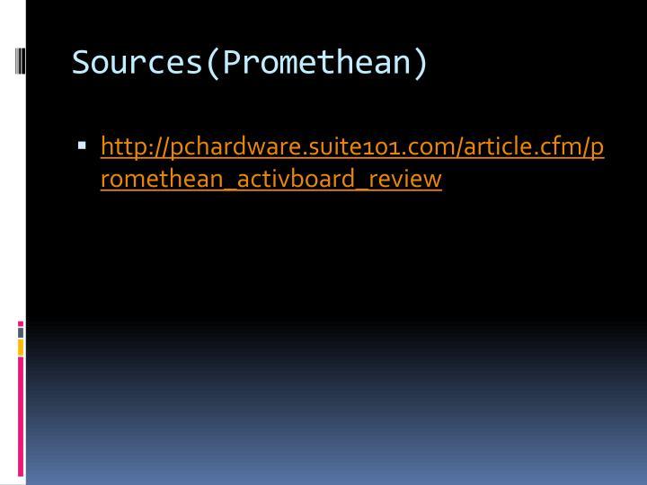 Sources(Promethean)