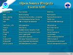 open source projects used in ade