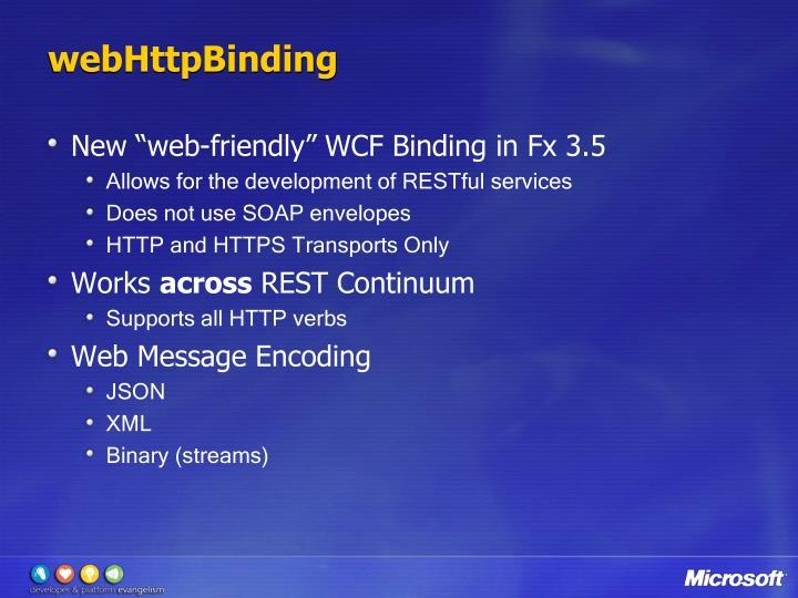 webHttpBinding