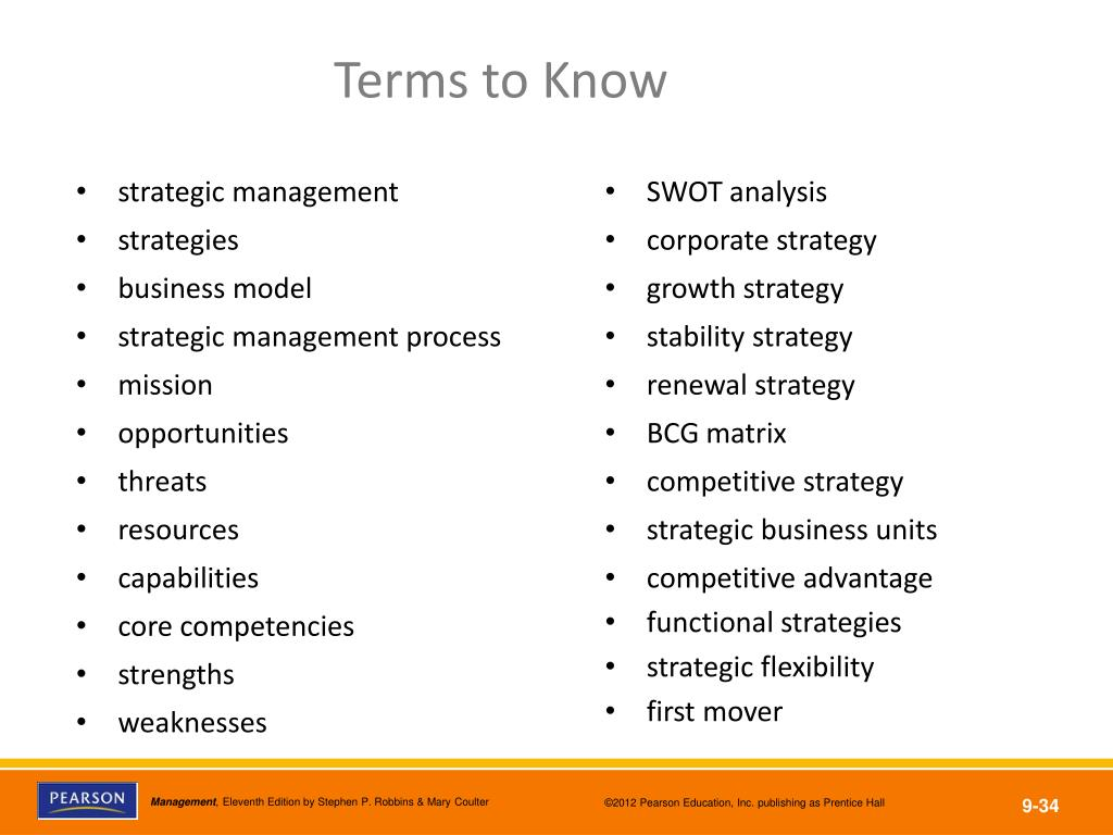 PPT - Define strategic management and explain why it's