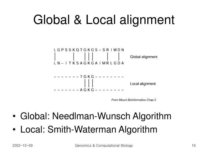 Global & Local alignment