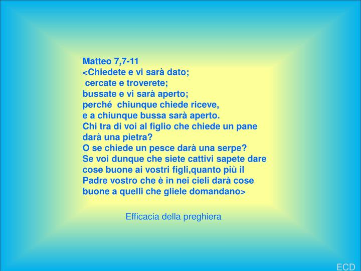 Matteo 7,7-11
