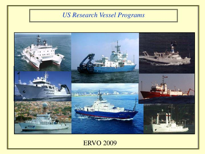 ocean agor general purpose research vessel program n.