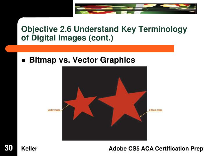 Objective 2.6 Understand Key Terminology of Digital Images (cont.)