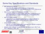 some key specifications and standards