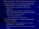 characteristics of the innovation process