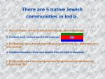 there are 5 native jewish communities in india