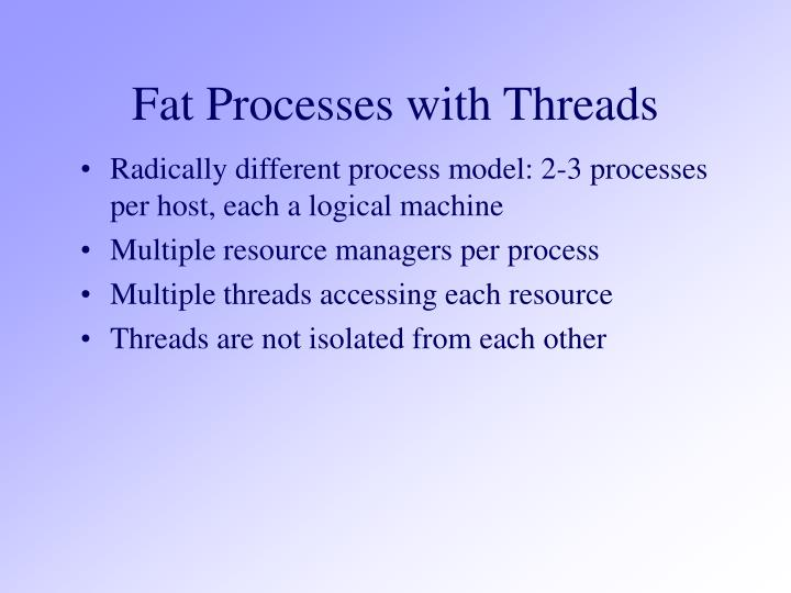 Fat Processes with Threads